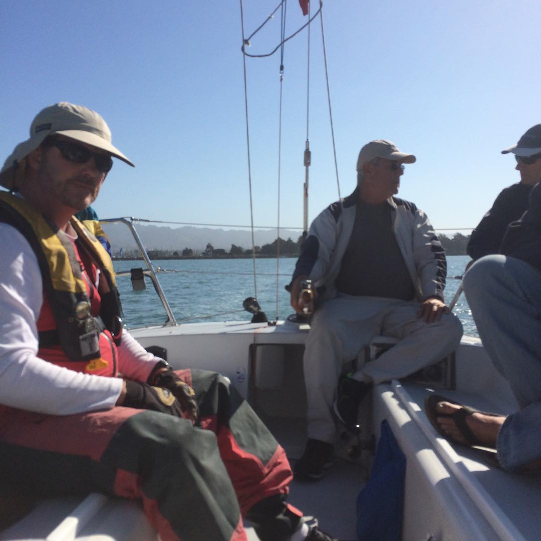 Heading out for day 3 of Express 37 Nationals on Stewball. We dropped a place yesterday since we didn't race in the second race yesterday. Should be warm and light air sailing today.