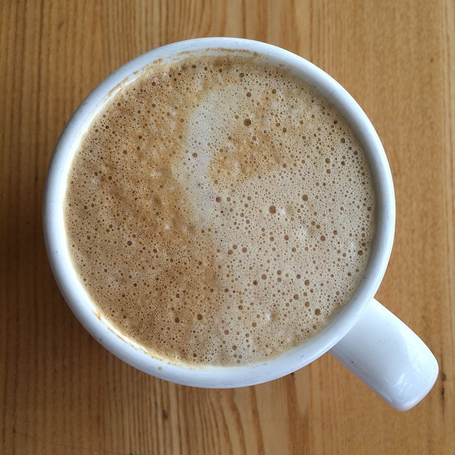 Kind of a ying yang sort of a latte today