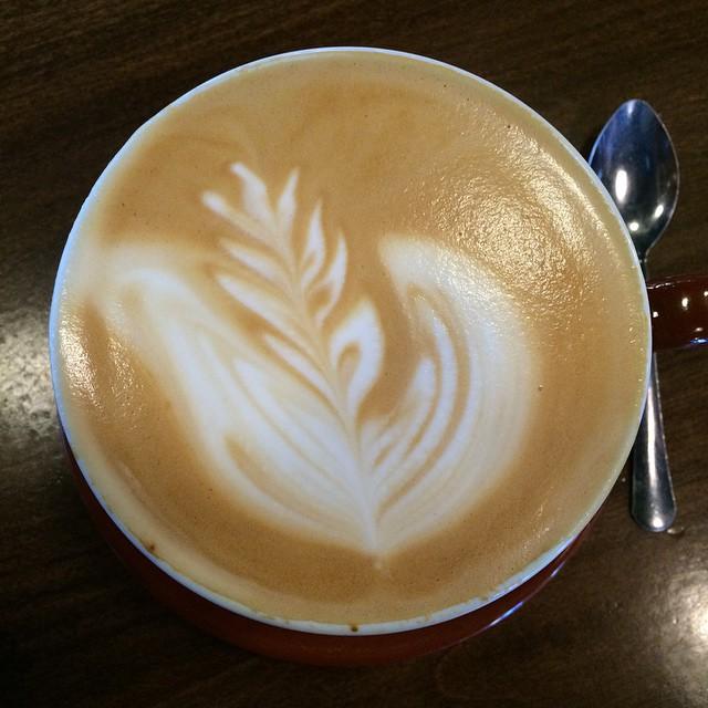 Lovely Blue Bottle latte for breakfast