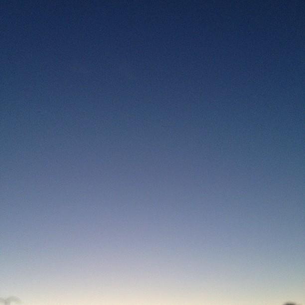 Lovely warm summer sunset
