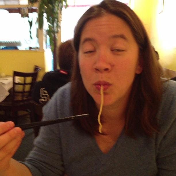 Mmm garlic noodles!