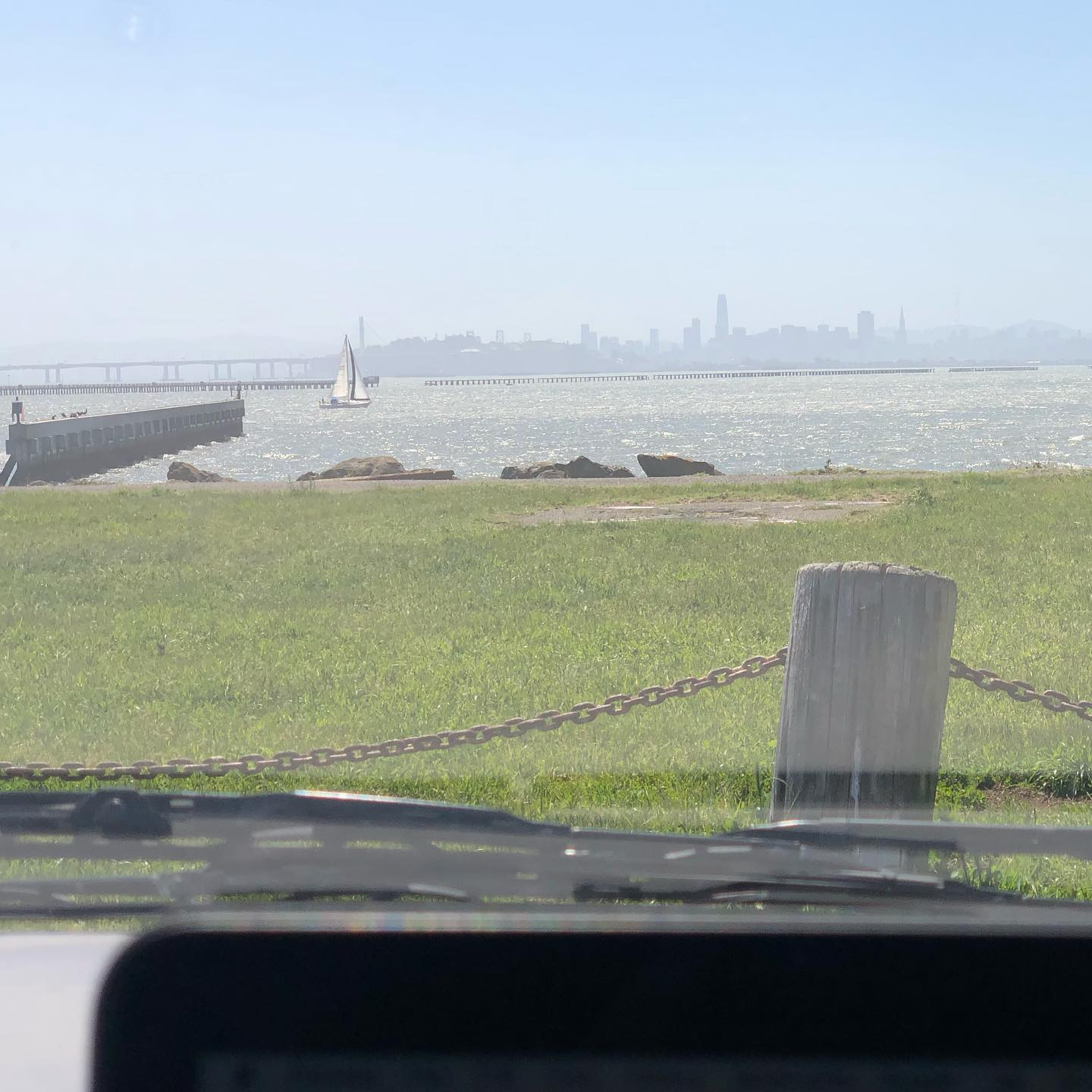 Pretty decent breeze today on the bay. Afternoon office
