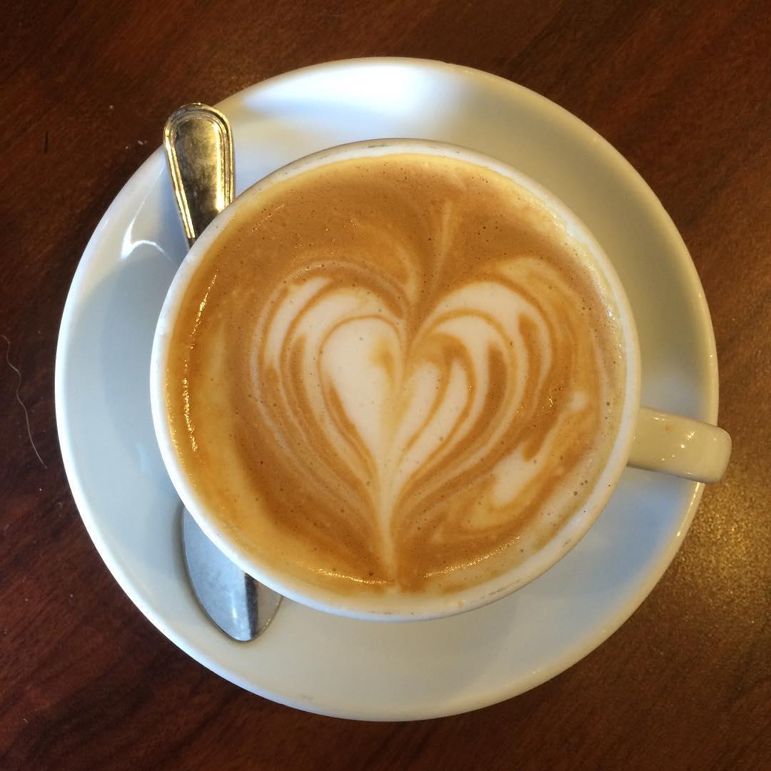 Sunday morning almond milk cappuccino