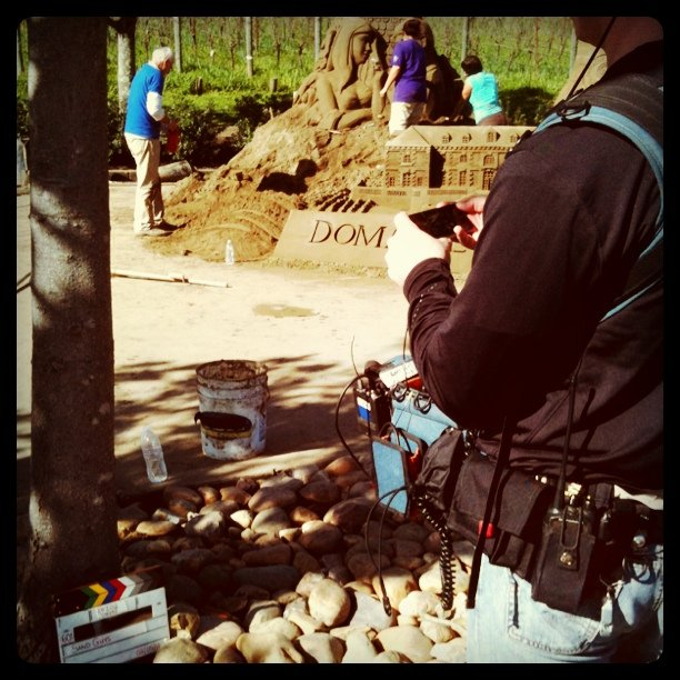 Travel Channel filming Sand Guys