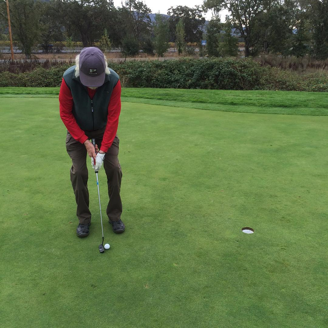 Uncle Jim putting for a 7