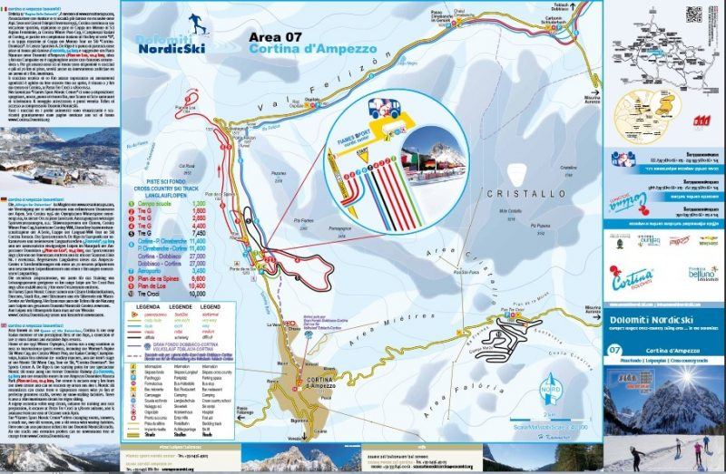trasee ski cross country cortina