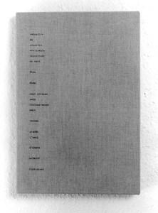 Gabriel Truan st 2 maquina de escribir / tela 30 x 20 cm 1990