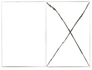 Gabriel Truan st 2 diptico rotulador sobre tela (2x) 30 x 20 cm 2002