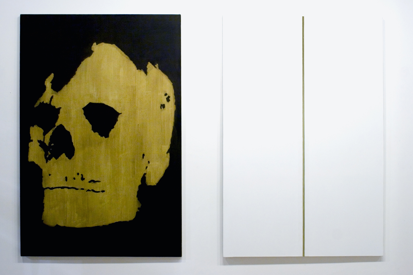 Gabriel Truan st tecnica mixta sobre tela (2x) 146 x 97 cm exp. Arte Contemporaneo Asturiano museo barjola Gijon 2007