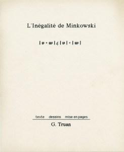 Gabriel Truan L'inegalite de minkovski portada de lbro 1991