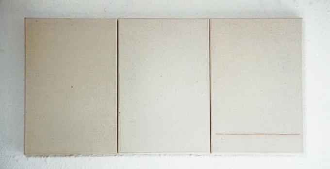 Gabriel Truan el viaje 2 maquina de escribir sobre tela (3x) 30 x 20 cm 1991