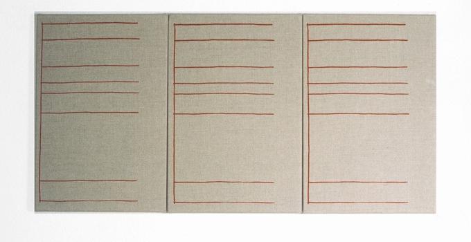 Gabriel Truan hoja de archivo serigrafia sobre tela (3x) 30 x 20 cm 1992