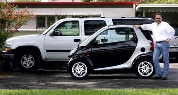 SMART vs masina americana