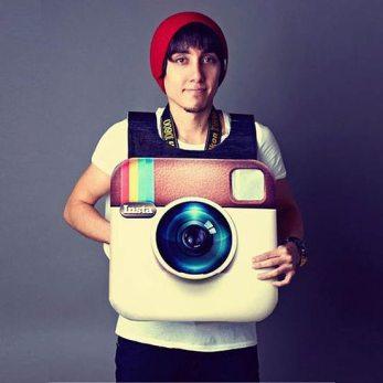 Costum Halloween de hipster Instagram