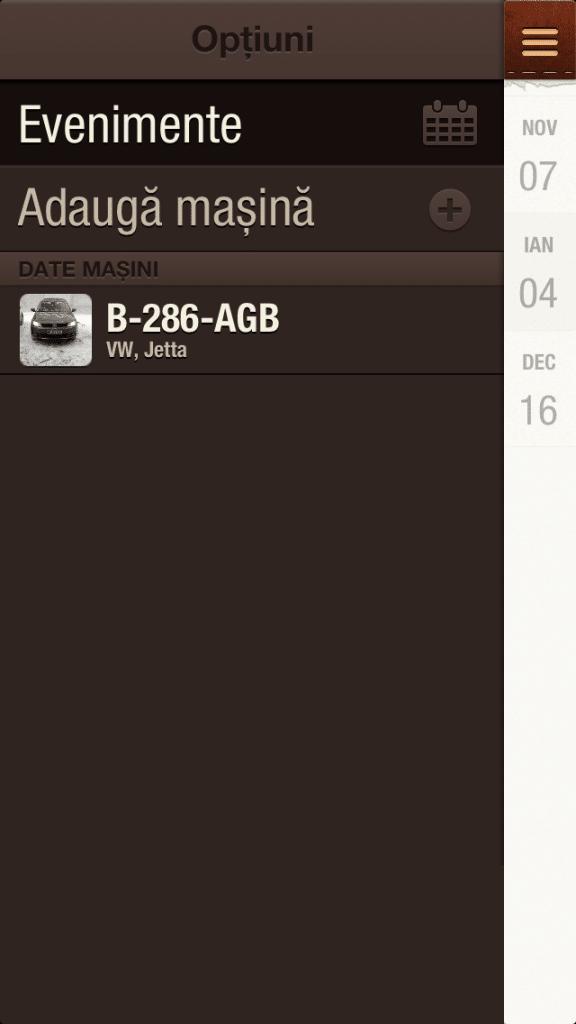 Aplicatie iPhone Masina mea 2