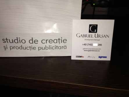 Carte de vizita Gabriel Ursan fata