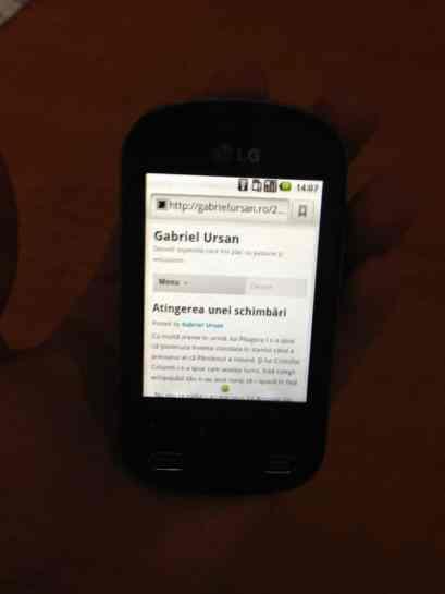 LG Optimus Me 350 navigare internet
