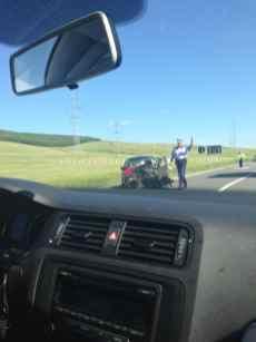 Accident pe drumul dintre Tecuci și Bârlad 2