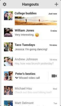 Google Hangouts iPhone 1