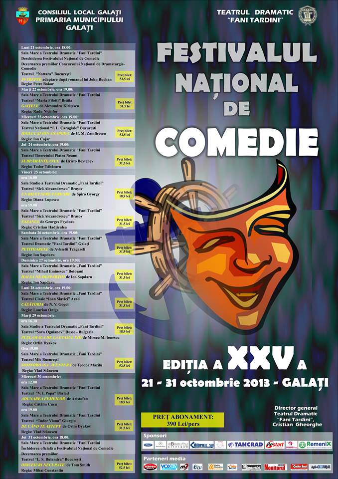 Program Festival Comedie Galati 2013