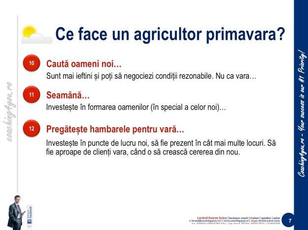 7. Învățăm de la agricultori