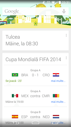 Real time info CM 2014