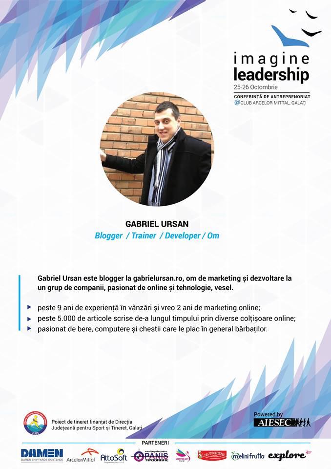 Gabriel Ursan la Image Leadership
