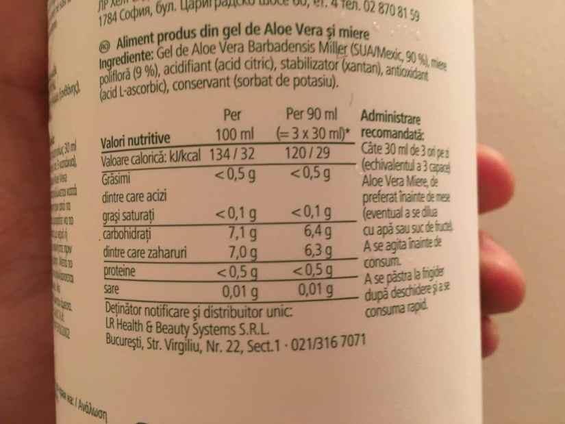 Eticheta gel Aloe Vera