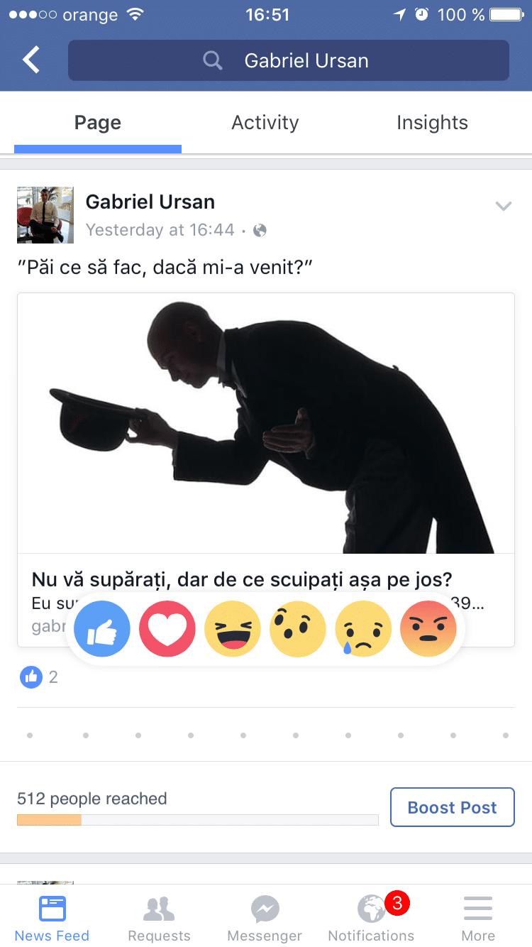 Noi butoane Facebook