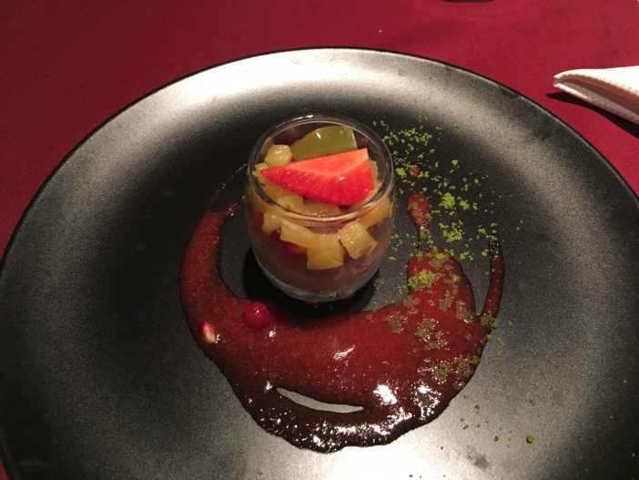 Mousse de ciocolata din partea casei la restaurant Belvedere Brasov