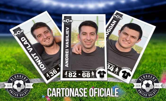 Cartonase echipa fotbal bloggeri