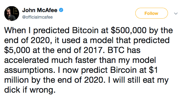 Predictie John McAfee