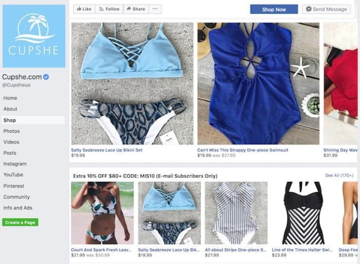 Vanzare pe magazin online Shopify pe Facebook