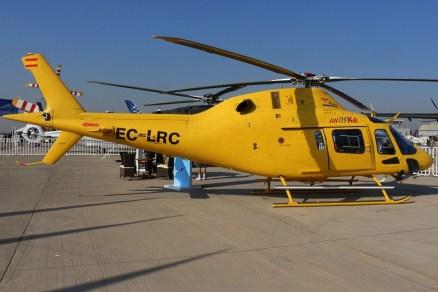 El EC-LRC sobrevivió intacto a un ataque incendiario que se registro en diciembre de 2013 en el Sur de Chile. Su hermana, matriculada EC-LRD, no tuvo tanta suerte como la máquina expuesta en FIDAE 2014 (foto: Carlos Ay).