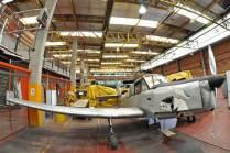 El E-350 es uno de los pocos ejemplares de Percival Prentice T.1 que sobreviven en Argentina. (Foto: Esteban Brea)