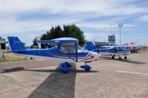 Dos Petrel 912 que se hicieron presentes en Olavarría Vuela. (Foto: Esteban Brea)