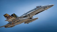 Los F-18C del Ala 46 de Gando (Canarias) se despliegan a la Base Aérea de Zaragoza desde donde realizan misiones sobre Bardenas (foto: YFC Photography)