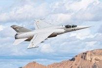 Un ya dado de baja Mirage F1M entrenando en Bardenas (foto: YFC Photography)
