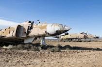 Algunos viejos F-4 Pahantom del EA haciendo las veces de blancos (foto: Miguel Ángel Blázquez Yubero)