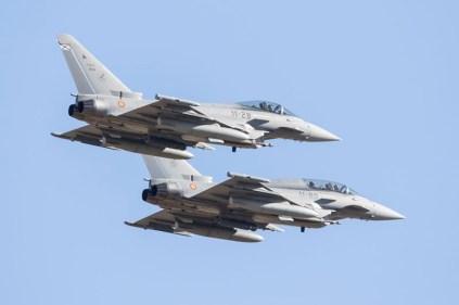 Eurofighters del EA sobre Bardenas (foto: Miguel Ángel Blázquez Yubero)