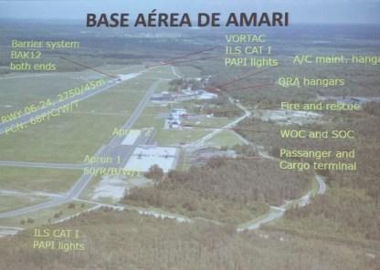 Imagen aérea e instalaciones de la base de Amari (imagen: EA)