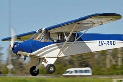 Piper PA-11C LV-RRD. (Foto: Esteban Brea)