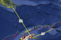Infografía donde quedan en evidencia las distancias y geografía de las zonas que debieron atravezar las aeronaves afectadas a esta operación. (Imagen: ARA)