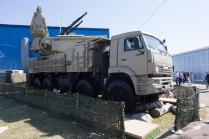 Sistema de defensa aérea Pantsir S-1 sobre un camión KAMAZ-6560(foto: Rostec)