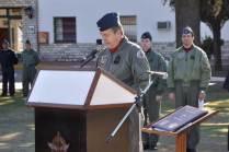 El Jefe del Grupo Aéreo Escuela, Comodoro Máximo Robertson durante su alocución. (Foto: Mauricio Chiofalo)