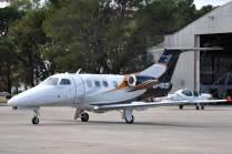 Poco común visitante, el Embraer Phenom 100 LV-GUD. (Foto: Mauricio Chiofalo)
