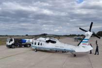 El H-01 también pudo ser visto en la IV Brigada Aérea, ya que fue desplegado allí por una visita del Presidente Mauricio Macri a Mendoza. (Foto: Andrés Rangugni)