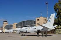 La IX Brigada Aérea se hizo presente con un Saab 340B. (Foto: Andrés Rangugni)