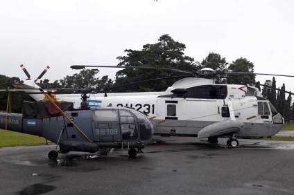 Entre los atractivos que presentó el MUAN en esta oportunidad se encontraron el Alouette 3-H-109 y el Sea King 2-H-231. (Foto: Lorenzo Borri)