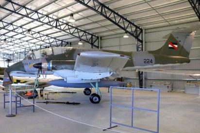 El IA-58 FAU 224 ya se conserva en el Museo Aeronáutico de Carrasco (foto: Faunáticos / Fanáticos de la Fau).